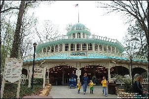 The RiverView Carousel's front entrance